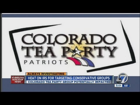 Colorado Tea party groups claim IRS discrimination