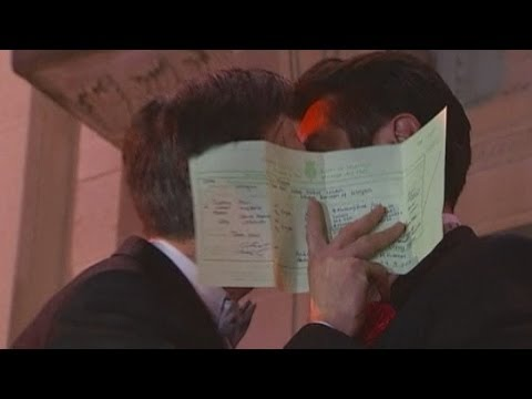 Gay Marriage Legalised: Same-sex Couples Celebrate Across England And Wales video