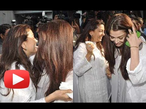 Why Was Aishwarya Rai Happy At Madhuri Dixit's Father's Prayer Meet ? video