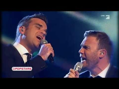 Robbie Williams And Gary Barlow  -Live Shame HD- 18/11/2010 - German TV