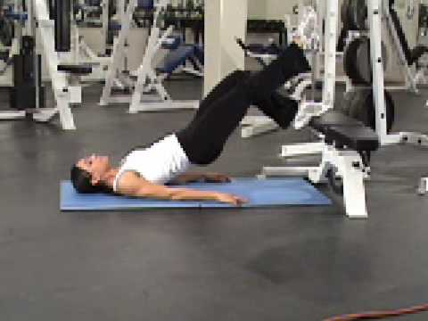 Crunch With Legs Elevated Elevated Single Leg Hip Lift