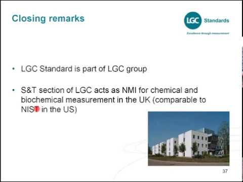 "LGC Standards webinar ""Primary and secondary reference standards in pharmaceutical quality control"""