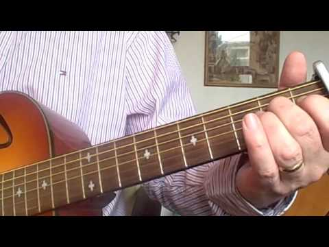 Guitar lesson in open D tuning