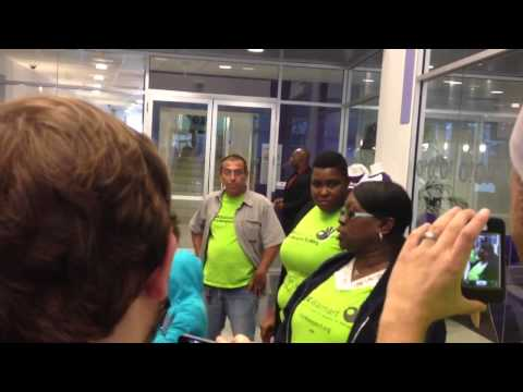 Walmart Workers Carry Out Civil Disobedience at Yahoo! Headquarters
