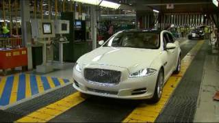 New Jaguar XJ manufacturing plant at Castle Bromwich UK