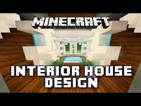 Minecraft Tutorial:  Modern Interior House Design  (How To Build A Modern House  Ep.14)