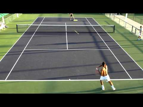 Jo-Wilfried Tsonga Intense Burst Drills 2014 BNP Paribas Open Indian Wells