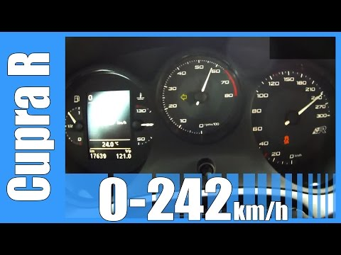 Seat Leon Cupra R 0-242 km/h GREAT! Acceleration & Top Speed Run
