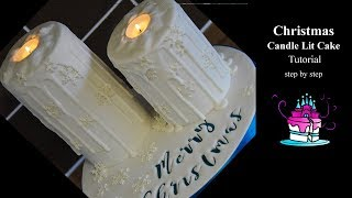 Candle Lit Cake Tutorial - step by step