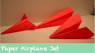 How to make a Paper AIRPLANE that FLIES Easy step by step for kids at HOME