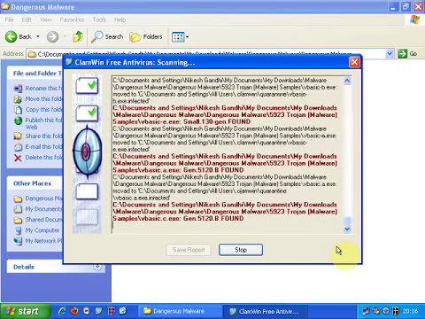ClamWin Antivirus Malware Test