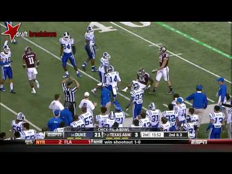 Johnny Manziel (Texas A&M QB) vs Duke, 2013 Chick-Fil-A Bowl