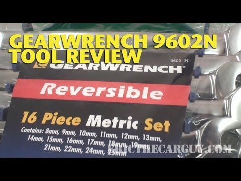 GearWrench 9602N Metric Wrench Set Tool Review -EricTheCarGuy | How To