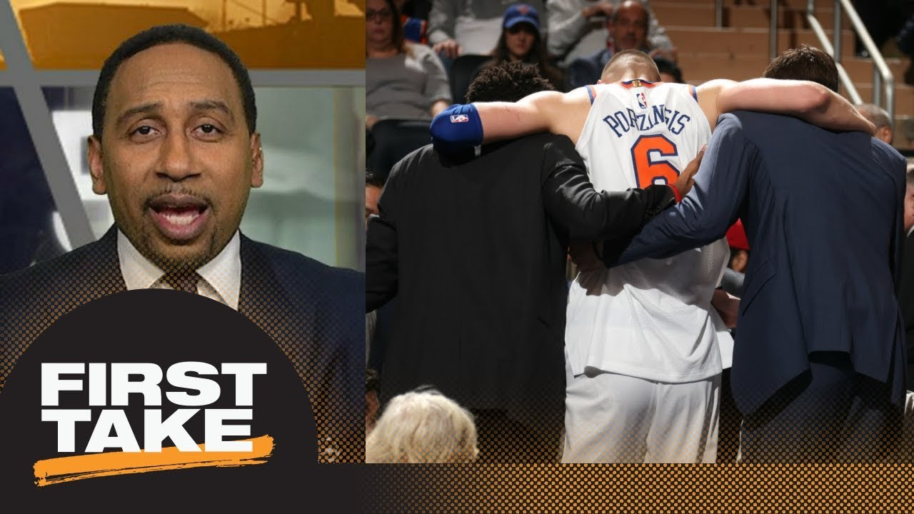 Stephen A. Smith's rant on Knicks after Kristaps Porzingis injury | First Take | ESPN