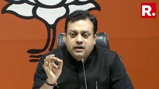 BJP Spokesperson Sambit Patra Addresses Media Briefing On Caravan's Article
