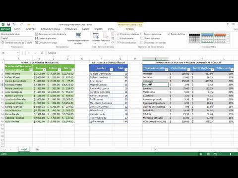 Formatos predeterminados | Excel 2013 Curso Básico #31