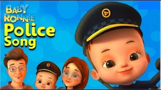 Police Song By Baby Ronnie   Nursery Rhymes & Kids Songs   Baby Role Play   Professions For Kids