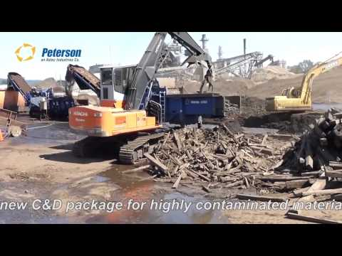 Peterson 6700B Mid-Speed Grinder in Railroad Ties