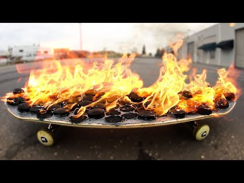 EXTREMELY DANGEROUS BED OF FIRE SKATEBOARD | YMIWSI Ep 181