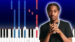 Lil Tjay - F.N (Piano Tutorial)
