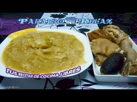 PUCHERO O COCIDO DE HABICHUELAS CON COL, RECETAS DE COCINA FÁCILES. ECONÓMICAS, DIETA MEDITERRANEA