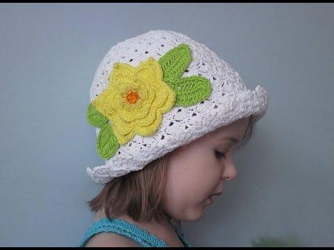 Детская шляпка вязана крючком