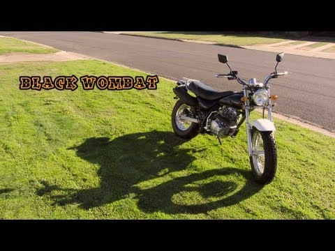 The Black Wombat - Skyteam V-Retro (Raptor) 250 Motorbike