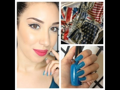 4th of July Makeup Tutorial, Outfit, Hair & Nails !!! ★★★