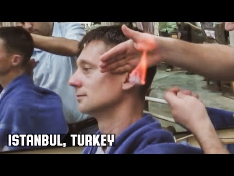 The Turkish Barber Haircut (Grand Bazaar Istanbul Turkey)