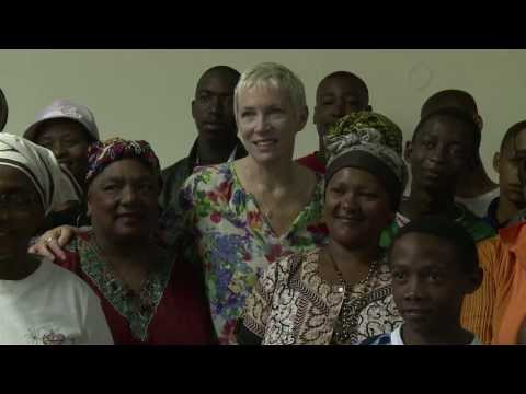 UNAIDS Global Goodwill Ambassador Annie Lennox carries on Nelson Mandela's legacy