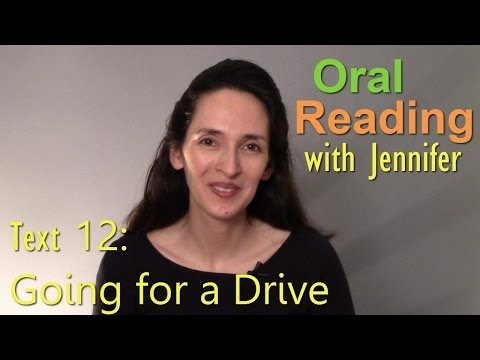 Oral Reading Fluency 12 - Going for a Drive - Read, reflect, an