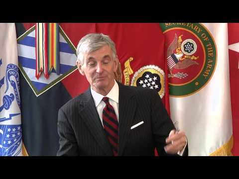 Secretary of the Army John M. McHugh conducts media interview at Fort Stewart (Part 2)