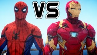 Spider-Man vs Iron Man - Superheroes Battle