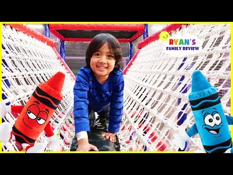 Crayola Experience Giant Indoor Kids play area with Ryan's Family Review!