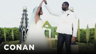 Gabrielle Union's Special Wedding Handshake With Dwyane Wade  - CONAN on TBS