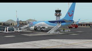 [X-Plane 11] TFL422 Sal(GVAC) Amsterdam(EHAM) Zibo Boeing 737-800