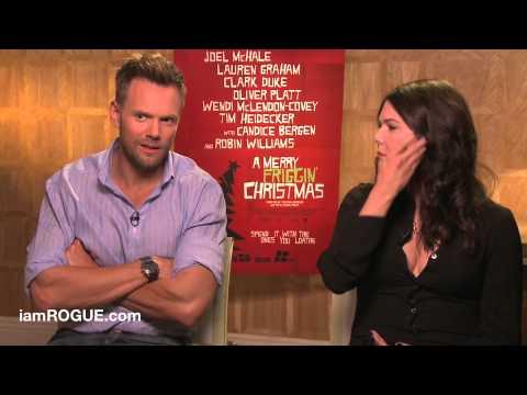 Joel McHale and Lauren Graham Talk 'Merry Friggin' Christmas'