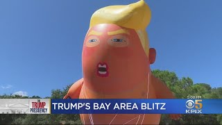 President Trump Met With Protesters During Brief Bay Area Visit