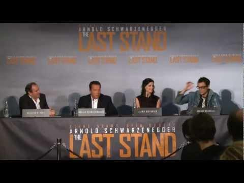 THE LAST STAND - Pressekonferenz Teil 2 mit Arnold Schwarzenegger - (Full-HD) - Deutsch / German