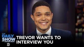Trevor Noah Wants to Interview You on The Daily Show Set | Omaze