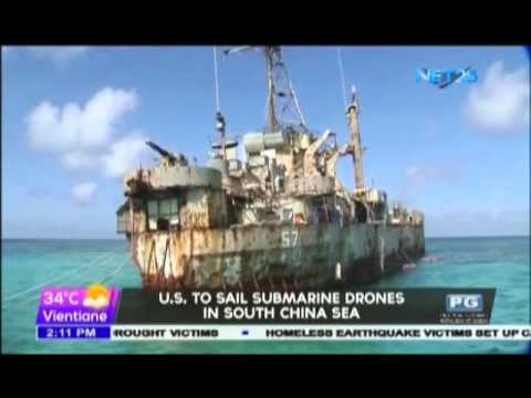U.S. to sail submarine drones in South China Sea