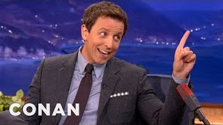 Seth Meyers Will Not Be Denied His Taxi - CONAN on TBS
