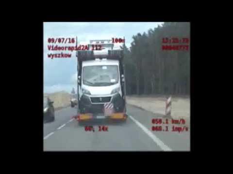 Pijany kierowca lawety marki Scania na krajowej 8