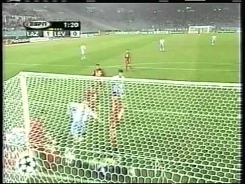 1999 (October 27) Lazio (Italy) 1-Bayer Leverkusen (Germany) 1 (Champions League)