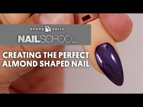 YN NAIL SCHOOL - CREATING THE PERFECT ALMOND SHAPED NAIL