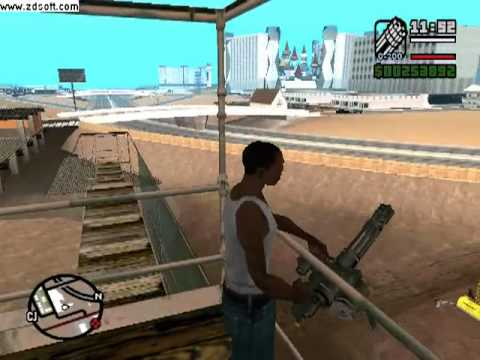 Donde encontrar la MINIGUN en GTA san andreas PC.