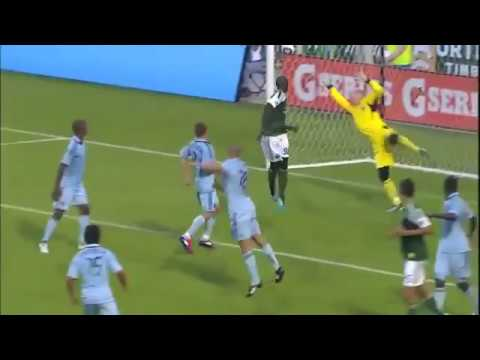 The rookie out of the University of Akron, Darlington Nagbe, sets the ball up with a few touches to himself, outside the box, and lifts a volley across goal ...