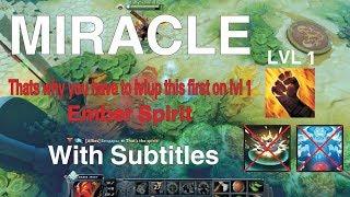 Miracle Ember Spirit full game with Subtitles Mid VS Storm | Dota 2 Pro GamePlays
