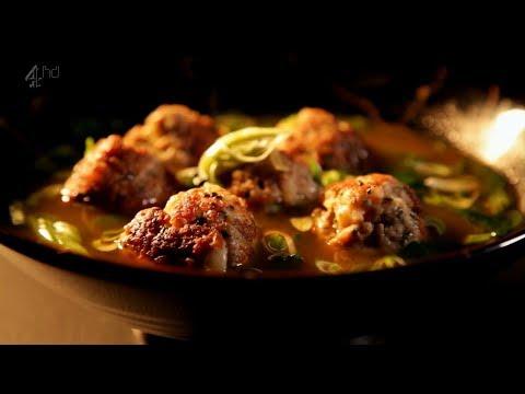 Рецепт от Гордона Рамзи - Креветочно свиные тефтели в ароматном бульоне