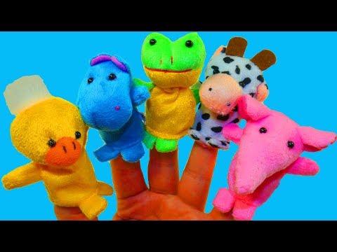 Сборник Куклы на пальчиках Учим животных Развивающая Песня Про животных Про Пальчики Семья пальчиков
